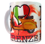 Tazza I love Firenze Scooter Rosso
