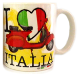 Tazza I love Italia Scooter Giallo